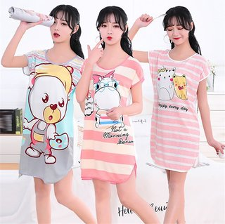 Women Printed Cartoon Sexy Sleepwear