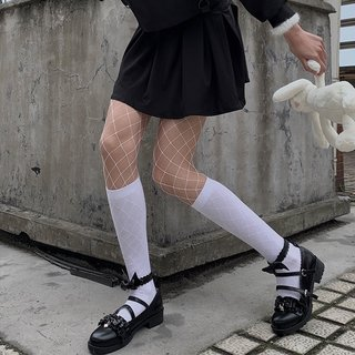 White Mesh Stockings Womens Long Sexy