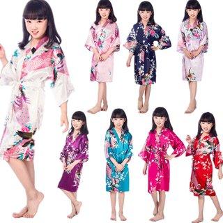 Wholesale Childs Satin Kimono Robes for
