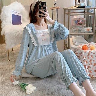 Womens Cotton Pajamas Spring and Autumn
