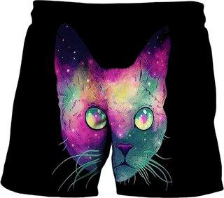 Summer Kids€˜s Shorts Cute Cat