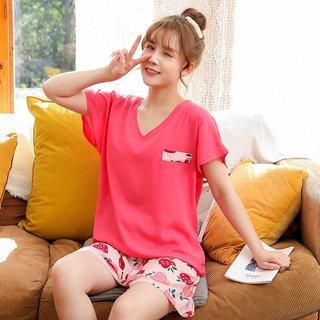 Thin Pajamas Womens Short-Sleeved