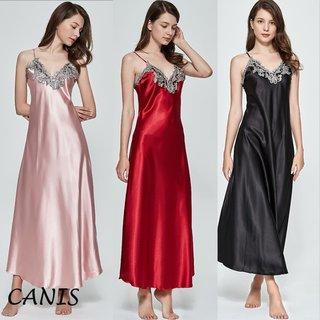 Women Ladies Satin Silk Night Dress