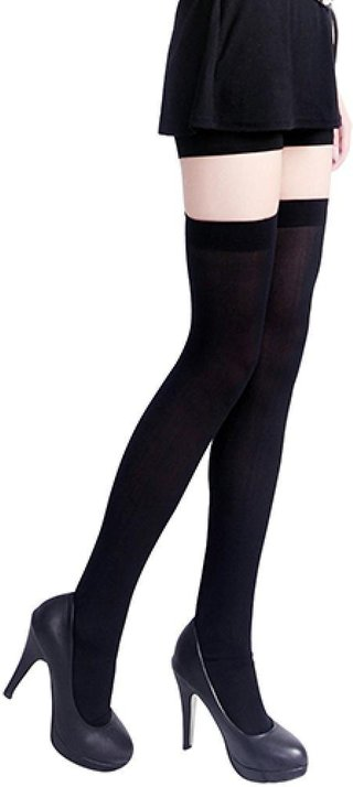 Women Thigh High Socks Sexy Pure Color