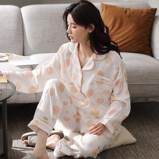 Spring and Autumn Pajamas Female