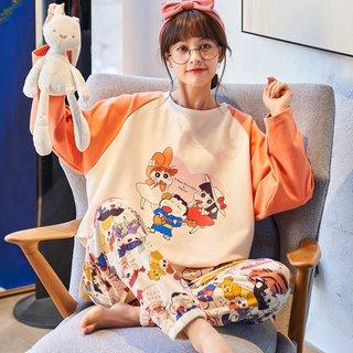 Spring Autumn Pajamas Womens Cute