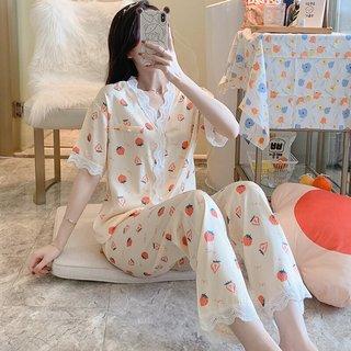 Strawberry Pajamas Womens Summer Short