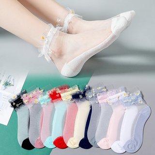 Sweet Lace Socks Women Girls Daisy