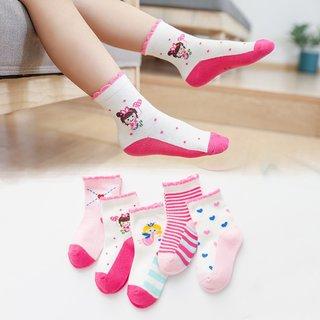 5 Paris/Lot Childrens Socks for Girls