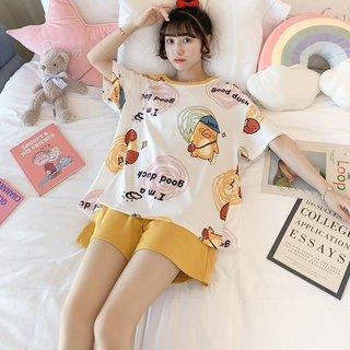 Summer Pajamas Womens Cotton Korean