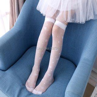 Summer girls White school socks Kids
