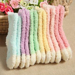 Winter Coral Velvet Warm Children Socks