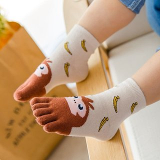 Year Kawaii Five Finger Children Socks
