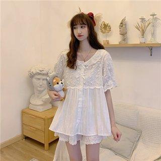 Spring Korean Style Loose White