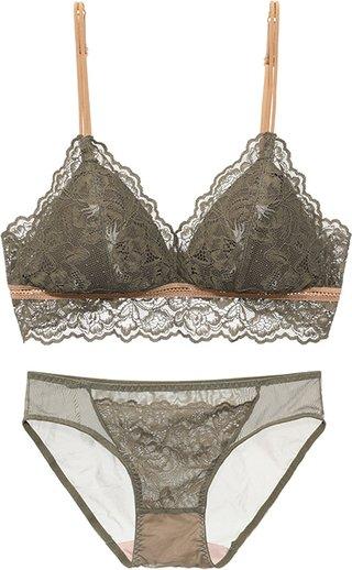 Thin Lace Wire Free Bra Underwear Women