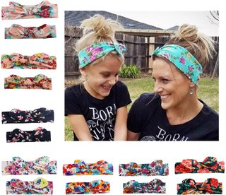 yuxic 2pcs Mother and Baby Headbands