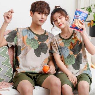Summer Short-Sleeved Couple Pajamas