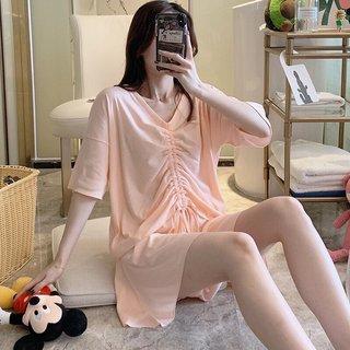 Top Drawstring Cotton Pajamas Womens