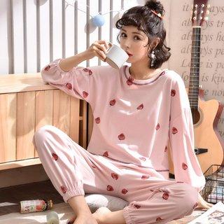 Spring and Autumn Pajamas Women Long