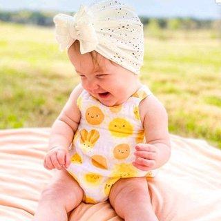 Solid Color Big Bows Baby Bonnet Cap