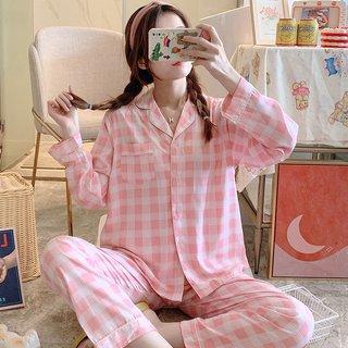 Style Cardigan Poplin Pajamas Female