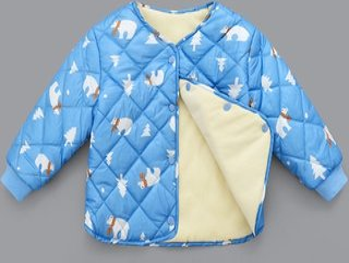 childrens jacket cotton thick fleece