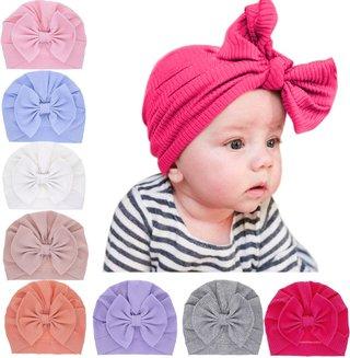 Spring Baby Hat Soft Bow Baby Girls