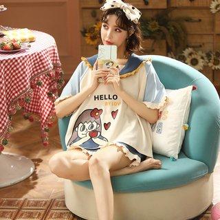 Womens Cotton Pajamas Summer Korean