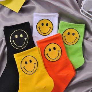 Solid kawaii Smile Big Face shape Print