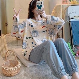 XINGX Bear Cotton Pajamas Womens Spring