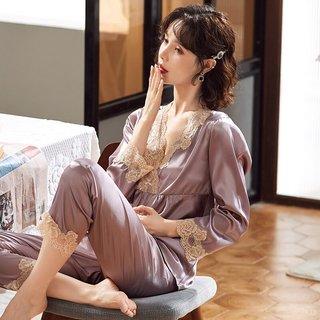 Spring and Autumn Viscose Fibre Pajamas