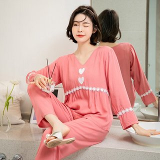 Womens Woven Cotton Pajamas Spring and