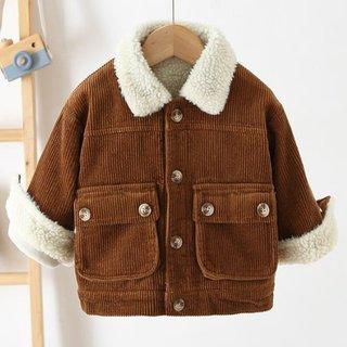 Toddler Boys Winter Coats Korean Solid