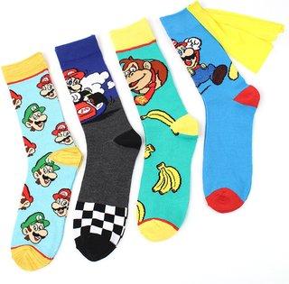Women Men Anime Cartoon Knee-High Socks