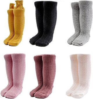 Toddler Baby Cable Knit Knee High Long
