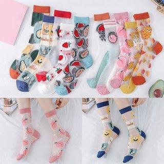 Summer Transparent Silk Socks Creative