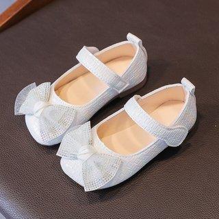 White Pink Bowknot Princess Shoes Kids