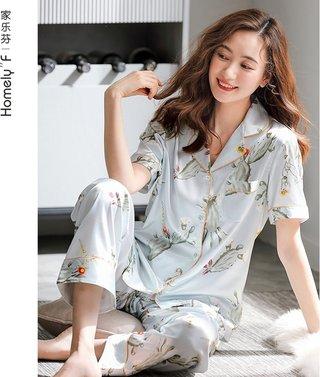 Womens Pajamas Summer Silk Ice Silk