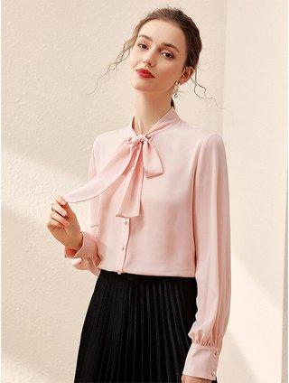 Womens Chiffon Long-Sleeved Shirt