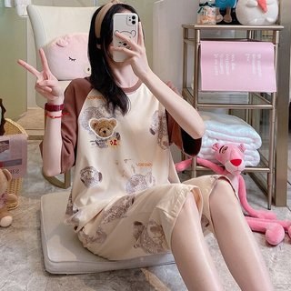 Teddy Bear Pajamas Womens Summer Cute