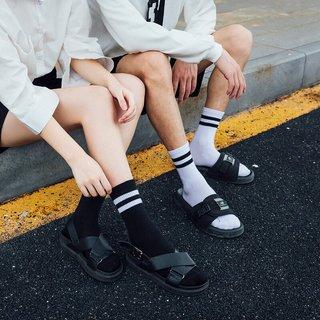 Striped Crew Short Socks Cute Cotton