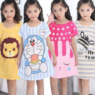 Summer Short Sleeve Girl Nightwear Cute