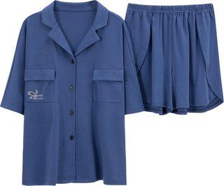 Nanjiren Pajamas Cotton Short Sleeve