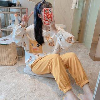 Yellow Duck Bear Pajamas Womens Spring