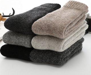 Winter Warm Merino Wool Male Men Socks