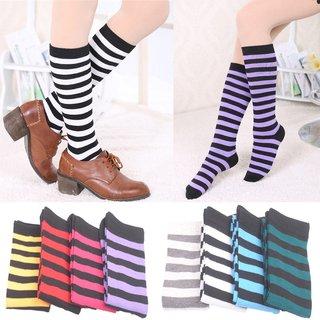 Women Over Knee Long Stripe Socks