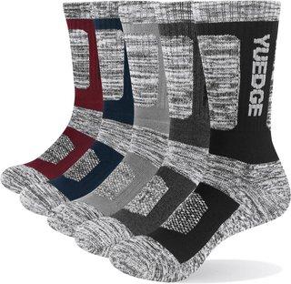 YUEDGE Mens Socks Cotton Cushion Casual