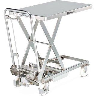 Bishamon® Edelstahl-Scheren-Hubtischwagen, TK 500 kg, à 1.010 x 520 mm