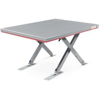 FLEXLIFT Flach-Scheren-Hubtisch, geschlossen, TK 600 kg, Plattform à 1.400 x 900 mm, 400 V