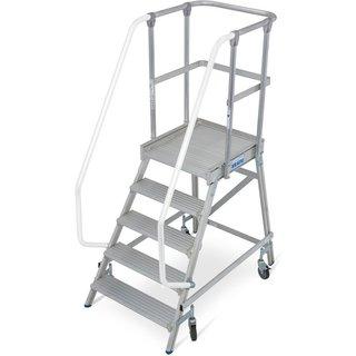 KRAUSE® Podesttreppe, 1-seitig, verfahrbar, Standhöhe 1,20 m